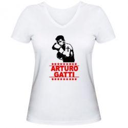 Женская футболка с V-образным вырезом Arturo Gatti - FatLine