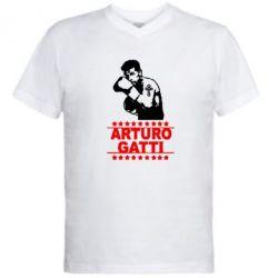Мужская футболка  с V-образным вырезом Arturo Gatti - FatLine
