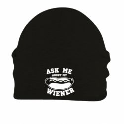 Шапка на флісі Ask me about my wiener