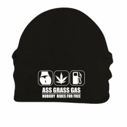 Шапка на флісі Ass Grass Gas