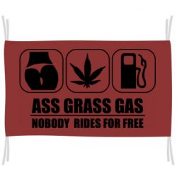 Прапор Ass Grass Gas