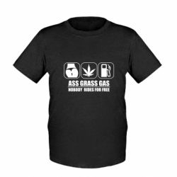 Дитяча футболка Ass Grass Gas