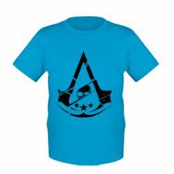 Детская футболка Assassin's Creed and skull 1