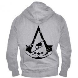Мужская толстовка на молнии Assassin's Creed and skull 1