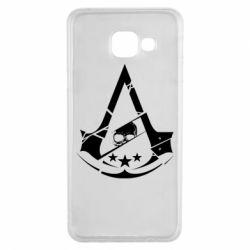 Чехол для Samsung A3 2016 Assassin's Creed and skull 1