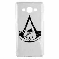 Чехол для Samsung A5 2015 Assassin's Creed and skull 1