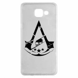 Чехол для Samsung A5 2016 Assassin's Creed and skull 1