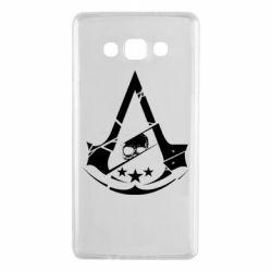 Чехол для Samsung A7 2015 Assassin's Creed and skull 1