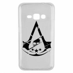 Чехол для Samsung J1 2016 Assassin's Creed and skull 1