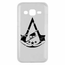 Чехол для Samsung J2 2015 Assassin's Creed and skull 1