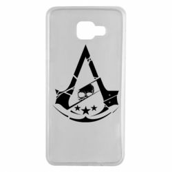 Чехол для Samsung A7 2016 Assassin's Creed and skull 1