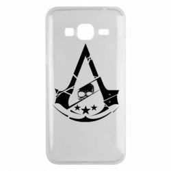 Чехол для Samsung J3 2016 Assassin's Creed and skull 1