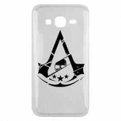 Чехол для Samsung J5 2015 Assassin's Creed and skull 1