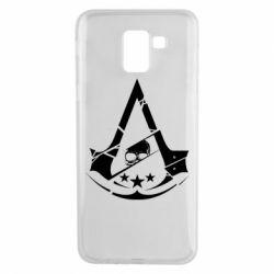 Чехол для Samsung J6 Assassin's Creed and skull 1
