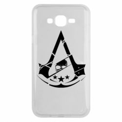 Чехол для Samsung J7 2015 Assassin's Creed and skull 1