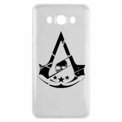 Чехол для Samsung J7 2016 Assassin's Creed and skull 1