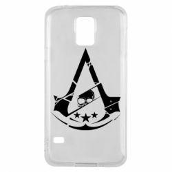 Чехол для Samsung S5 Assassin's Creed and skull 1
