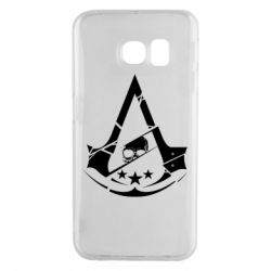 Чехол для Samsung S6 EDGE Assassin's Creed and skull 1
