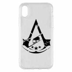 Чехол для iPhone X/Xs Assassin's Creed and skull 1