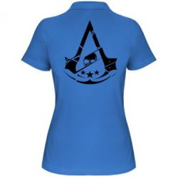 Женская футболка поло Assassin's Creed and skull 1