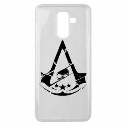 Чехол для Samsung J8 2018 Assassin's Creed and skull 1