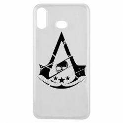 Чехол для Samsung A6s Assassin's Creed and skull 1