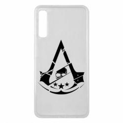 Чехол для Samsung A7 2018 Assassin's Creed and skull 1