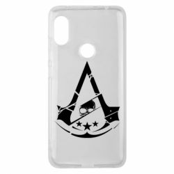 Чехол для Xiaomi Redmi Note 6 Pro Assassin's Creed and skull 1