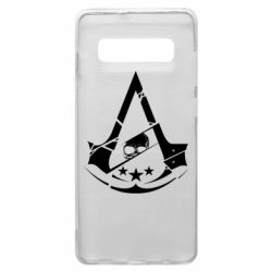 Чехол для Samsung S10+ Assassin's Creed and skull 1