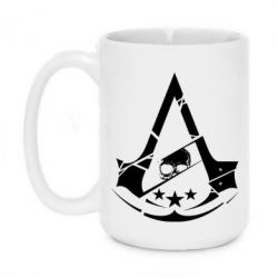 Кружка 420ml Assassin's Creed and skull 1