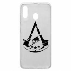 Чехол для Samsung A20 Assassin's Creed and skull 1