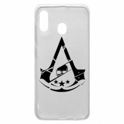 Чехол для Samsung A30 Assassin's Creed and skull 1