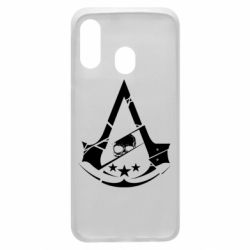 Чехол для Samsung A40 Assassin's Creed and skull 1