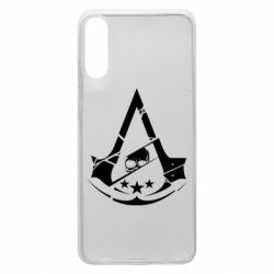 Чехол для Samsung A70 Assassin's Creed and skull 1
