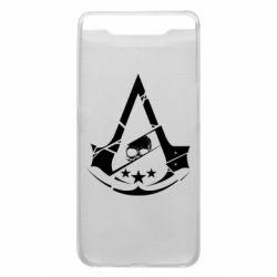 Чехол для Samsung A80 Assassin's Creed and skull 1