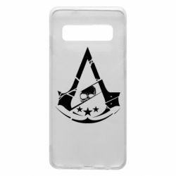 Чехол для Samsung S10 Assassin's Creed and skull 1