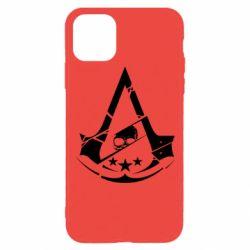 Чехол для iPhone 11 Pro Assassin's Creed and skull 1