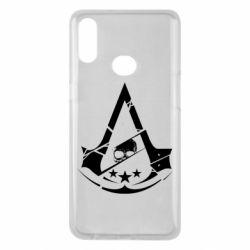 Чехол для Samsung A10s Assassin's Creed and skull 1