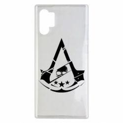 Чехол для Samsung Note 10 Plus Assassin's Creed and skull 1