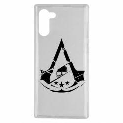 Чехол для Samsung Note 10 Assassin's Creed and skull 1