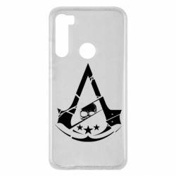 Чехол для Xiaomi Redmi Note 8 Assassin's Creed and skull 1