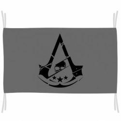 Флаг Assassin's Creed and skull 1