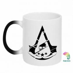 Кружка-хамелеон Assassin's Creed and skull 1