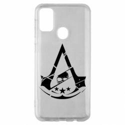 Чехол для Samsung M30s Assassin's Creed and skull 1