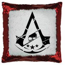 Подушка-хамелеон Assassin's Creed and skull 1