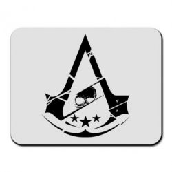 Коврик для мыши Assassin's Creed and skull 1