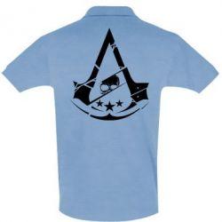 Мужская футболка поло Assassin's Creed and skull 1