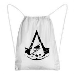 Рюкзак-мешок Assassin's Creed and skull 1