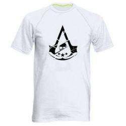 Мужская спортивная футболка Assassin's Creed and skull 1
