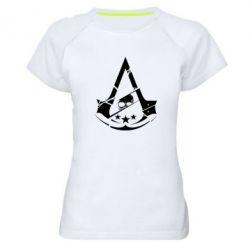 Женская спортивная футболка Assassin's Creed and skull 1